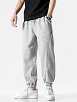 cheap -Men's Casual / Sporty Streetwear Comfort Outdoor Jogger Pants Sweatpants Trousers Loose Casual Daily Pants Solid Color Full Length Drawstring 1 2 3 4 5