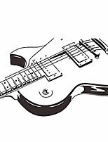 cheap -self-adhesive musical guitar pvc wall sticker music room bedroom decoration mural art decal wall decor black