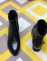 cheap -Women's Boots Chunky Heel Pointed Toe Rubber Black Brown