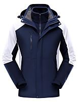 cheap -Women's Men's Hiking 3-in-1 Jackets Ski Jacket Hiking Fleece Jacket Polar Fleece Winter Outdoor Thermal Warm Windproof Quick Dry Lightweight Hoodie Windbreaker Trench Coat Skiing Ski / Snowboard