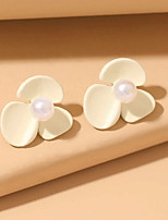 cheap -Women's Drop Earrings Earrings Classic Wedding Birthday Stylish Simple Elegant Romantic Cowboy Pearl Earrings Jewelry White For Wedding Gift Date Beach Promise 1 Pair