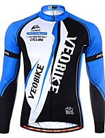 cheap -Men's Long Sleeve Cycling Jersey Summer Spandex Black / Red Blue / Black Color Block Bike Top Mountain Bike MTB Road Bike Cycling Quick Dry Sports Clothing Apparel / Athleisure