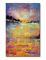 cheap -Oil Painting Handmade Hand Painted Wall Art Abstract YellowDusk Landscape Home Decoration Decor Stretched Frame Ready to Hang