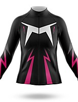 cheap -21Grams Women's Long Sleeve Cycling Jersey Spandex Polyester Black Lightning Funny Bike Top Mountain Bike MTB Road Bike Cycling Quick Dry Moisture Wicking Breathable Sports Clothing Apparel