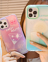 cheap -Phone Case For Apple Back Cover iPhone 12 Pro Max 11 SE 2020 X XR XS Max 8 7 Shockproof Dustproof Word / Phrase Graphic TPU