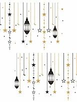 cheap -2pcs ramadan wall stickers moon and star wall stickers decals eid mubarak wall decorations