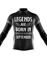 cheap -21Grams Men's Long Sleeve Cycling Jersey Spandex Polyester Black Funny Bike Top Mountain Bike MTB Road Bike Cycling Quick Dry Moisture Wicking Breathable Sports Clothing Apparel / Athleisure