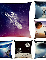 cheap -Astronaut Double Side Cushion Cover 1PC Soft Decorative Square Throw Pillow Cover Cushion Case Pillowcase for Bedroom Livingroom Superior Quality Machine Washable Indoor Cushion for Sofa Couch Bed Chair