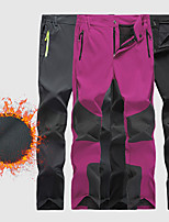 cheap -Women's Fleece Lined Pants Hiking Pants Trousers Softshell Pants Patchwork Winter Outdoor Thermal Warm Waterproof Warm Breathable Spandex Pants / Trousers Bottoms Grey Black Rose Red Camping / Hiking