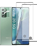 cheap -[2 pack] screen protector for samsung galaxy note 20 with camera lens protector, [support fingerprint][full screen coverage][anti-scratch] hd tempered glass film for samsung galaxy note 20 5g