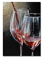 cheap -Wall Art Canvas Prints Painting Artwork Picture Abstract Wine GlassRedRestaurant Home Decoration Decor Stretched Frame Ready to Hang