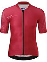 cheap -21Grams Men's Short Sleeve Cycling Jersey Summer Spandex Red Dark Navy Polka Dot Bike Top Mountain Bike MTB Road Bike Cycling Quick Dry Moisture Wicking Sports Clothing Apparel / Athleisure