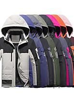 cheap -Women's Hoodie Jacket Hiking Windbreaker Hiking Fleece Jacket Polar Fleece Winter Outdoor Patchwork Thermal Warm Waterproof Windproof Fleece Lining Outerwear Winter Jacket Trench Coat Full Length
