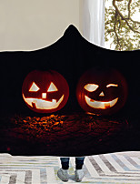 cheap -Cotton Polyester Blend Halloween 3D Print Throw Blanket Wearable Hoodie For Couch Chair Sofa Bed Soft Fluffy Warm Cozy Plush Autumn Winter