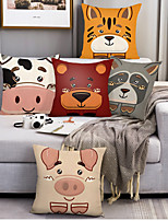 cheap -Double Side Cushion Cover 5PC Soft Decorative Square Throw Pillow Cover Cushion Case Pillowcase for Bedroom Livingroom Superior Quality Machine Washable Indoor Cushion for Sofa Couch Bed Chair