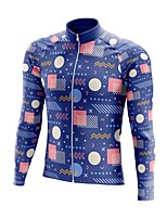cheap -21Grams Men's Long Sleeve Cycling Jersey Spandex Polyester Blue Funny Bike Top Mountain Bike MTB Road Bike Cycling Quick Dry Moisture Wicking Breathable Sports Clothing Apparel / Stretchy