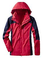 cheap -Men's Hiking 3-in-1 Jackets Ski Jacket Hiking Fleece Jacket Polar Fleece Winter Outdoor Camo Thermal Warm Windproof Quick Dry Lightweight Hoodie Windbreaker Trench Coat Skiing Ski / Snowboard Fishing