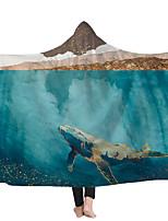 cheap -Magic Cape Hooded Blanket Blanket Cape Children's Blanket Wearing a Hat Blanket Oil Painting Series