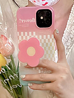 cheap -Phone Case For Apple Back Cover iPhone 12 Pro Max 11 X XR XS Max iphone 7Plus / 8Plus Shockproof Dustproof with Stand Graphic Flower TPU
