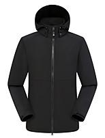 cheap -Women's Men's Hiking Softshell Jacket Hiking Windbreaker Hiking Fleece Jacket Polar Fleece Winter Outdoor Solid Color Thermal Warm Waterproof Windproof Fleece Lining Outerwear Hoodie Trench Coat Full