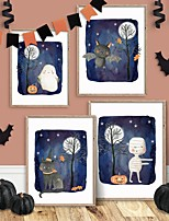 cheap -Halloween Wall Art Canvas Prints Painting Artwork Picture Home Decoration Dcor Rolled Canvas No Frame Unframed Unstretched