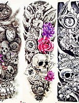 cheap -3 Pcs Henna Fake Flash Tattoo Stickers Cool Animals Skull Body Art Eagle Waterproof Temporary Tattoo For Man Woman