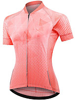 cheap -21Grams Women's Short Sleeve Cycling Jersey Summer Spandex Polyester Orange Polka Dot Funny Bike Top Mountain Bike MTB Road Bike Cycling Quick Dry Moisture Wicking Breathable Sports Clothing Apparel