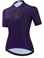 cheap -21Grams Women's Short Sleeve Cycling Jersey Summer Spandex Purple Polka Dot Bike Top Mountain Bike MTB Road Bike Cycling Quick Dry Moisture Wicking Sports Clothing Apparel / Stretchy / Athleisure