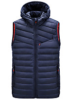 cheap -Men's Hiking Vest Quilted Puffer Vest Winter Outdoor Thermal Warm Windproof Quick Dry Lightweight Outerwear Winter Jacket Trench Coat Skiing Ski / Snowboard Fishing claret turmeric Black Army Green