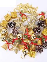 cheap -36 Pieces Of Golden Christmas Tree Pendant Decoration