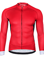 cheap -21Grams Men's Long Sleeve Cycling Jersey Spandex Red Blue Green Solid Color Bike Top Mountain Bike MTB Road Bike Cycling Quick Dry Moisture Wicking Sports Clothing Apparel / Athleisure