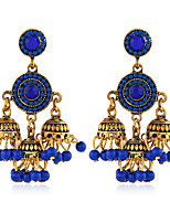 cheap -Women's Earrings Geometrical Floral Theme Joy Stylish Simple Earrings Jewelry Red / Dark Red / Blue For Daily Holiday Promise 1 Pair
