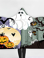 cheap -New Halloween hoodie blanket double plush