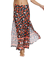 cheap -Women's Fashion Casual / Sporty Comfort Chinos Loose Casual Yoga Pants Flower / Floral Graphic Prints Full Length Split Elastic Waist Print Purple Red
