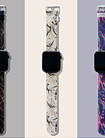 cheap -Smart Watch Band for Apple iWatch 1 pcs Sport Band Printed Bracelet Silicone Replacement  Wrist Strap for Apple Watch Series 7 / SE / 6/5/4/3/2/1