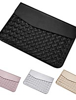cheap -11.6 Inch Laptop / 12 Inch Laptop / 13 Inch Laptop Sleeve PU Leather / Polyurethane Leather Solid Color / Leather for Men for Women for Business Office Waterpoof