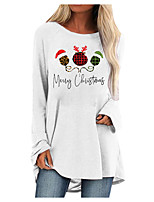 cheap -Women's Shift Dress Short Mini Dress Blue Blushing Pink Gray White Black Brown Long Sleeve Plaid Letter Print Fall Round Neck Casual Christmas 2021 S M L XL XXL 3XL 4XL 5XL