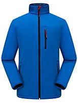 cheap -Men's Hiking Softshell Jacket Hiking Windbreaker Hiking Fleece Jacket Polar Fleece Winter Outdoor Thermal Warm Waterproof Windproof Quick Dry Outerwear Winter Jacket Trench Coat Skiing Ski