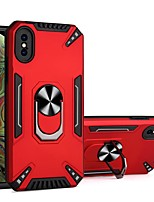 cheap -Phone Case For Apple Back Cover iPhone 12 Pro Max 11 SE 2020 X XR XS Max 8 7 6 Shockproof Dustproof Ring Holder Solid Colored TPU
