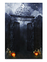 cheap -Wall Art Canvas Prints Painting Artwork Picture Halloween Night House Home Decoration Decor Rolled Canvas No Frame Unframed Unstretched