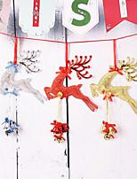 cheap -Christmas Deer Big Pendant Iron Bell Hanging Christmas Tree Dress Up Supplies Festival Decorations