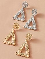 cheap -Women's Earrings Geometrical Stylish Simple Elegant Classic Sweet Earrings Jewelry Silver For Party Evening Gift Date Beach Festival 1 set