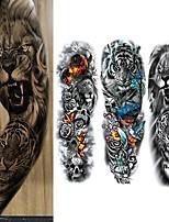 cheap -3 Pcs Temporary Tattoos Eco-Friendly Disposable Body Brachium Full-Arm Temporary Tattoos