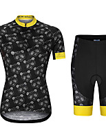 cheap -21Grams Women's Short Sleeve Cycling Jersey with Shorts Summer Spandex Black Bear Bike Quick Dry Moisture Wicking Sports Patterned Mountain Bike MTB Road Bike Cycling Clothing Apparel / Stretchy