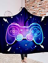 cheap -Hooded Blanket Cloak Magic Hat Blanket Thick Double-layer Plush 3d Digital Printing Gamepad Series