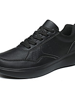 cheap -Men's Sneakers Casual Daily Faux Leather Breathable Khaki Black Fall