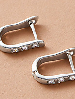 cheap -Women's Earrings Classic Stylish Simple Elegant Modern Trendy Earrings Jewelry Silver For Wedding Party Evening Gift Date Festival 1 Pair