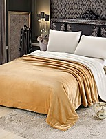 """cheap -sherpa blanket luxury soft warm large flannel throw bed blanket for couch khaki 79""""x91"""""""
