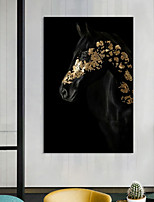 cheap -Wall Art Canvas Prints Painting Artwork Picture Animal Horse Gold Home Decoration Dcor Rolled Canvas No Frame Unframed Unstretched