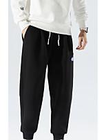 cheap -Men's Sweatpants Running Pants Hiking Pants Trousers Drawstring Winter Summer Outdoor Oversized Soft Comfortable Elastic Waist Bottoms Grey Black Traveling Winter Sports M L XL XXL XXXL